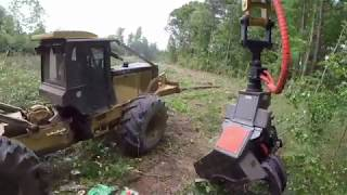 new-volvo-220e-excavator-with-ryans-dangle-heading-cutting-trees