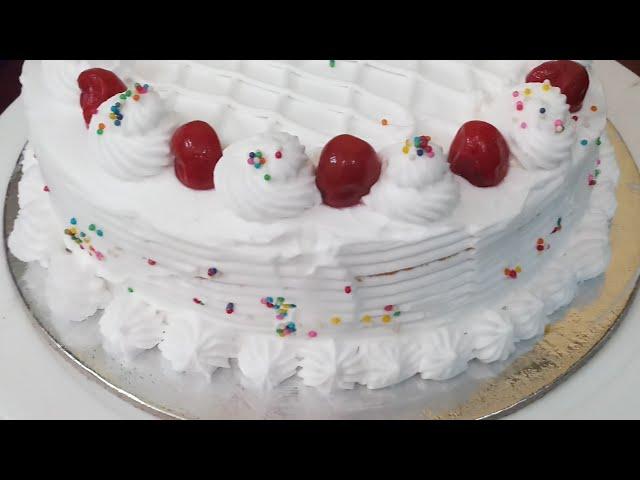 Vennila fresh cream  cake / fresh cream  icing step by step /வெண்ணிலா  பிரெஷ்  கிரீம்  கேக்