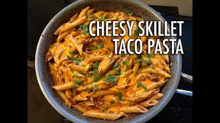 Cheesy Skillet Taco Pasta | Cooking Basics and Essentials Ep. 10 | Cooking with Anadi