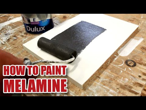 How do you paint MELAMINE?