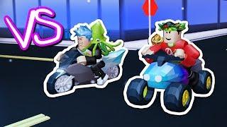 ATV VS LEVEL 5 MOTORCYCLE RACE in JAILBREAK!! (Roblox Jailbreak)