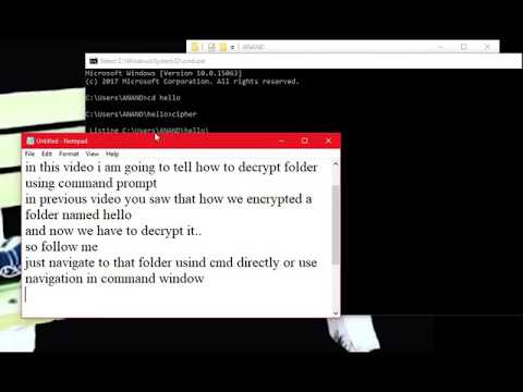 decrypt a folder using cipher in command prompt