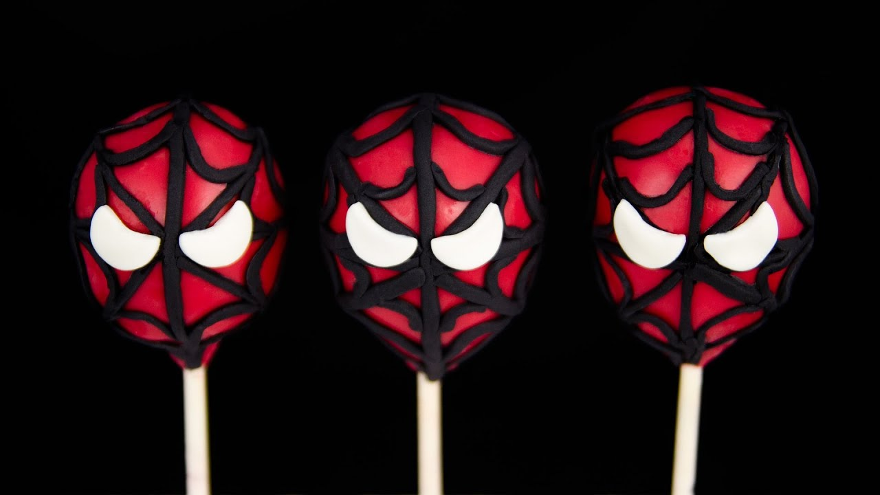 Spiderman Cake Pops From Cookies Cupcakes And Cardio