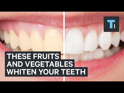 Eating these fruits and vegetables can help whiten your teeth