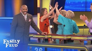 Guys, if you're smart… KEEP CLAPPING!!! | Family Feud