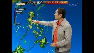 UB: Weather update as of 5:58 a.m. (June 22, 2018)