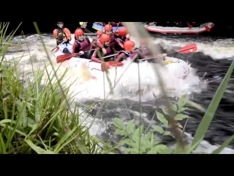 White water rafting in North Wales with the National White Water Centre, full version HD