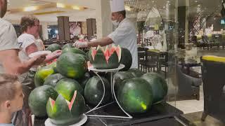 Jasmine Palace Resort and Spa Еда в ресторане отеля Egypt 2021 Hurghada