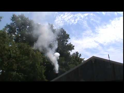 Buckeye Oil engine puffing smoke rings