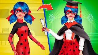 8 DIY Barbie Hacks and Crafts / Ladybug and Cat Noir