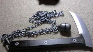 One piece solid Kusarigama
