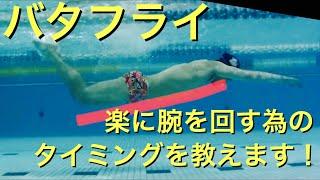 バタフライ 楽に腕を回す為の タイミング 【 水泳 】 【 競泳 】 【 バタフライ 】