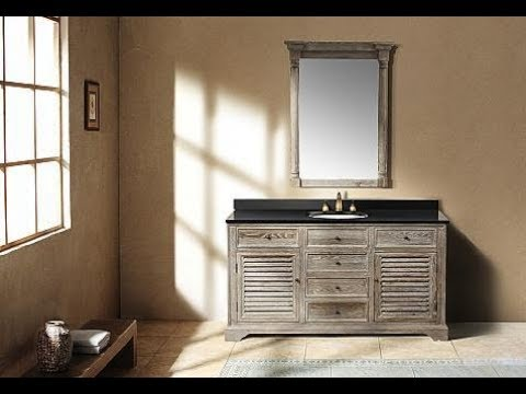 Natural Wood Bathroom Vanity,