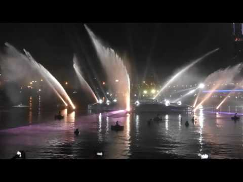 Fire and water show at Dubai Festival city 2016