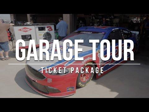 Garage Tour Ticket Package NASCAR Auto Club Speedway March 24-26, 2017