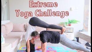 EXTREME YOGA CHALLENGE // COUPLE YOGA CHALLENGE //ROMANTIC YOGA