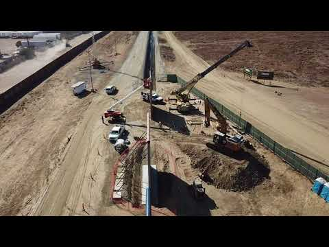 Aerial Tour| President Trump's Border Wall Prototypes ALMOST Complete in California