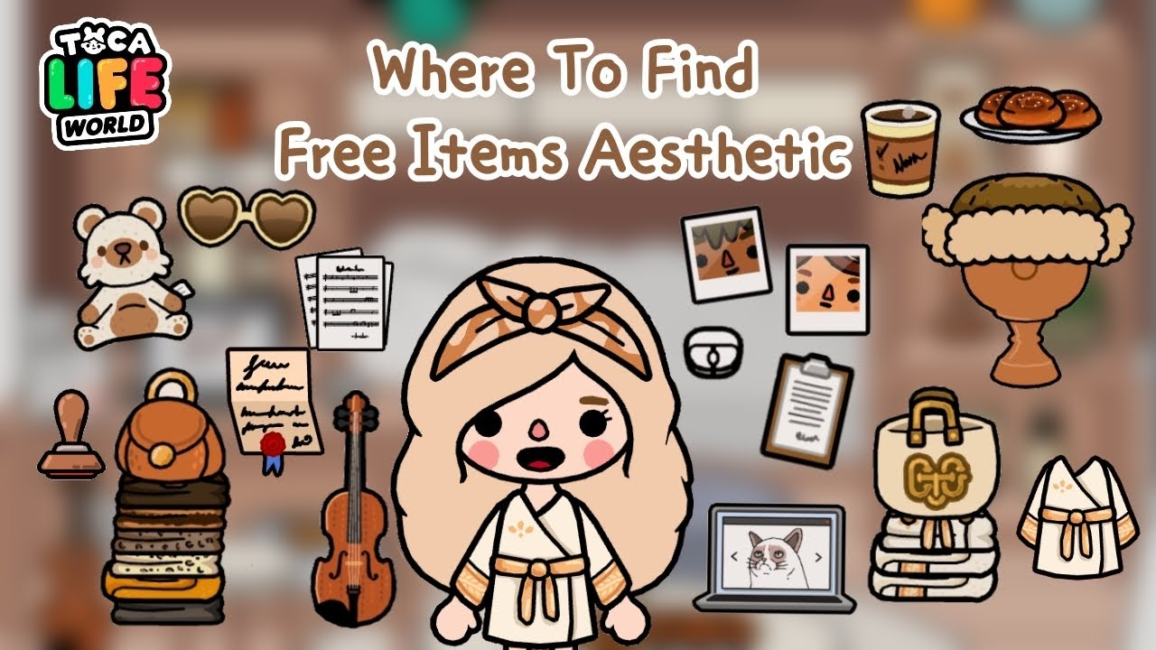 WHERE TO FIND FREE ITEMS AESTHETIC 🍂🏠 | TOCA LIFE WORLD ✨