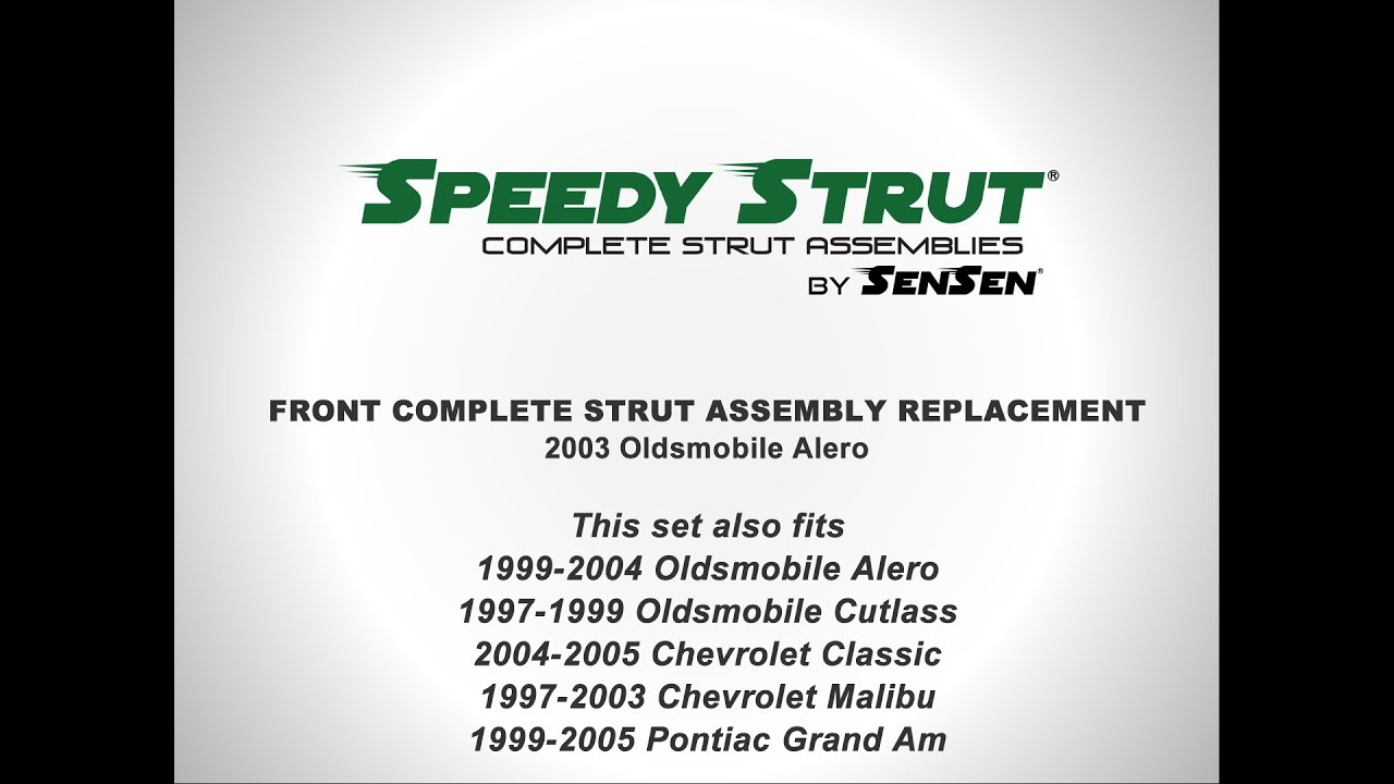 medium resolution of replacement of front complete strut assemblies on a 2003 oldsmobile alero sensen shocks and struts