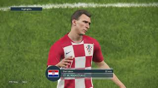 Chorwacja Anglia Croatia England PRO EVOLUTION SOCCER 2019 PS4