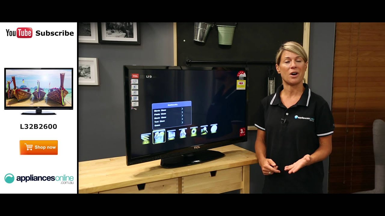 tcl l32b2600 31 5 80cm hd led lcd tv reviewed by product expert appliances online youtube. Black Bedroom Furniture Sets. Home Design Ideas