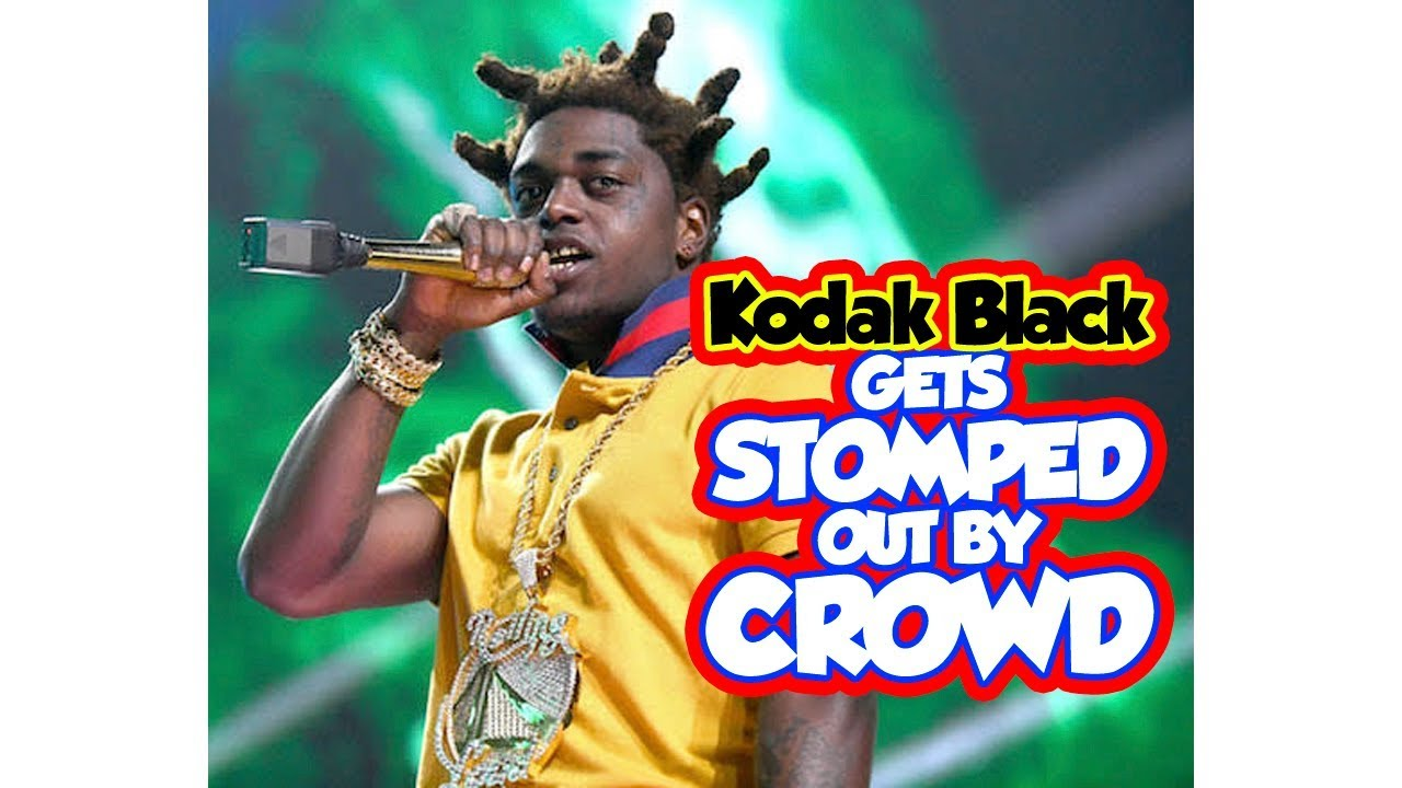 Kodak black stomped out while attempting after failed crowd surf - Two Different views.