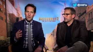 Steve Carell and Paul Rudd discuss hilarious improv moments for