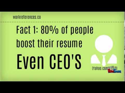 fake resume work references youtube