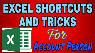 Ms Excel shortcuts and tricks for accountants||excel turarial part 1