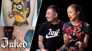 Tattoo Artists React to Subscriber's Tattoos | Tattoo Artists Answer