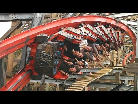 Medusa Steel Coaster off-ride HD Six Flags México