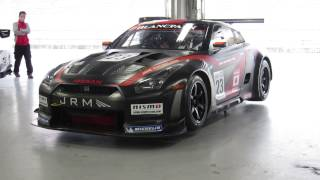NISMO FESTIVAL at FUJI SPEEDWAY 2014 NISSAN GT-R(FIA GT1世界選手権) 走行前 暖機運転