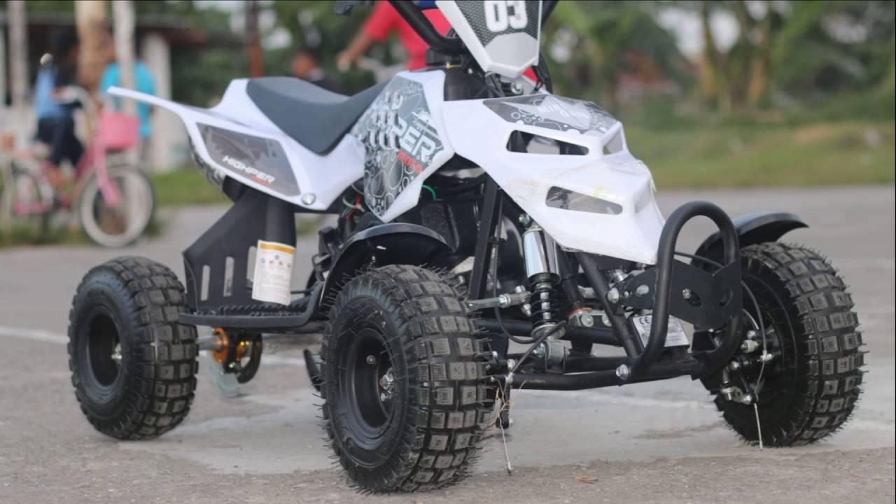 Motor Atv  Cc Potong Rumput  Mini Atv Raptor  Youtube