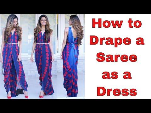 How to Drape a Saree as a Dress