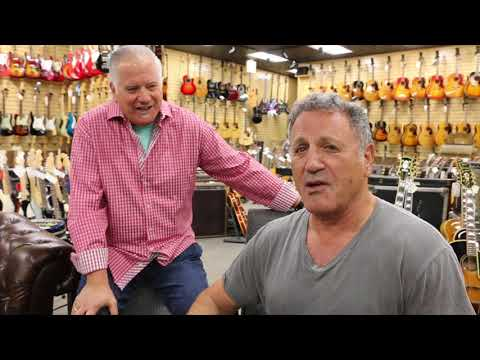 Frank Stallone during the Holidays with a Ramirez Nylon String Guitar
