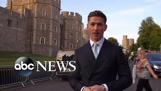 Crowds gather at Windsor Castle ahead of the royal wedding thumbnail