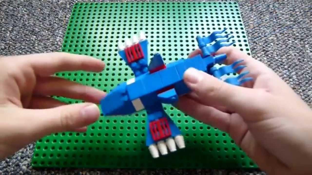 Lego pokemon instructions part 11 kyogre revisited - Lego pokemon rayquaza ...