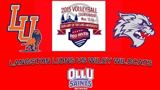 RRAC Volleyball Tournament #6 Langston vs. #3 Wiley College