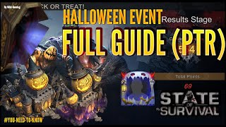 STATE OF SURVIVAL: FЏLL INFOS ON HALLOWEEN EVENT, SKINS AND FRAMES ! FEW TIPS FOR WIN ! (PTR)