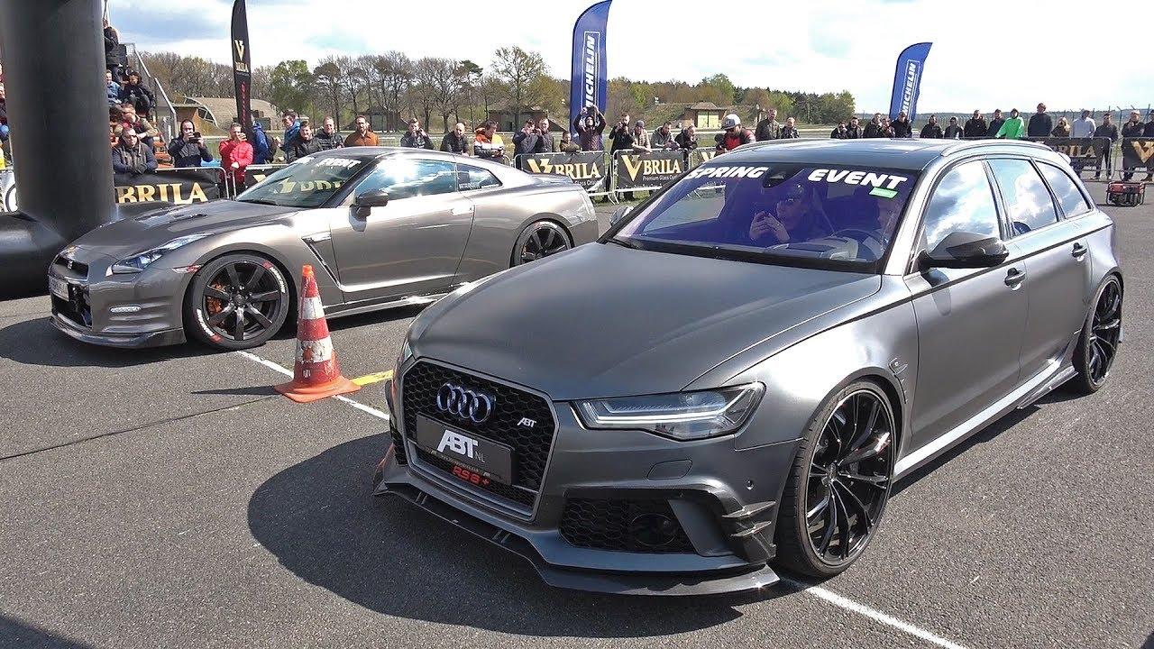 ABT Audi RS6 Avant C7 (750HP) vs Nissan GT-R R35 vs Mercedes-AMG C63S