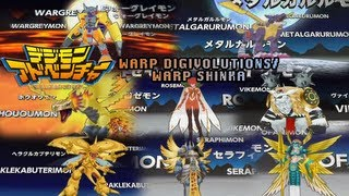 Repeat youtube video Digimon Adventure PSP - All Warp Digivolves/Warp Shinka/Mega Levels!
