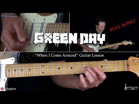 When I Come Around Guitar Lesson (Full Song) - Green Day