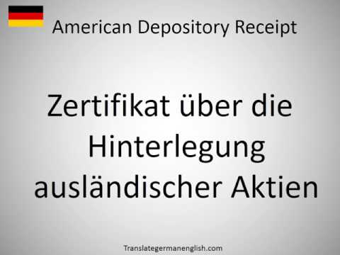 How to say American Depository Receipt in German?