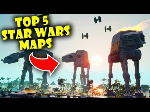 Top 5 Best Star Wars Maps In Fortnite Creative!