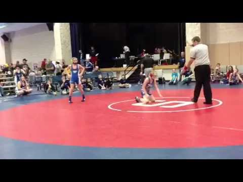 Leonhardt dominating Michigan wrestler