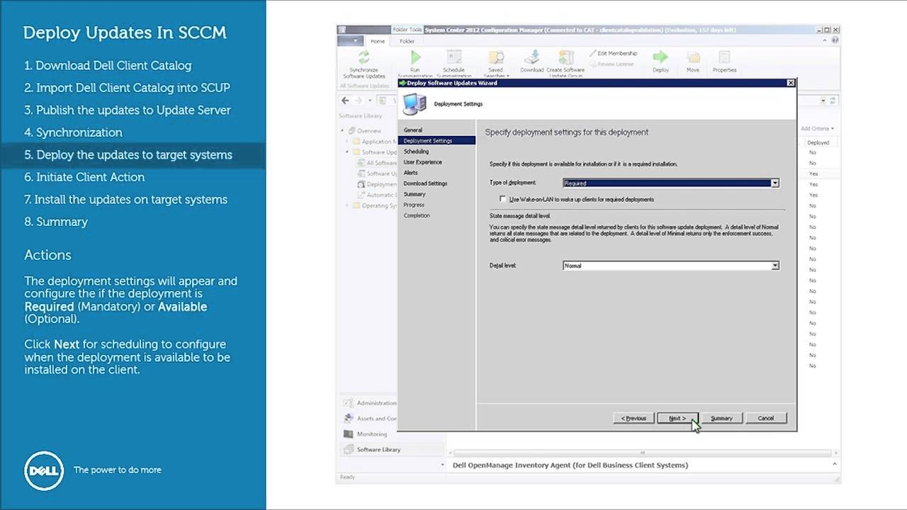 Deploying Dell Updates with the Business Client Catalog and ConfigMgr  (SCCM) 2012