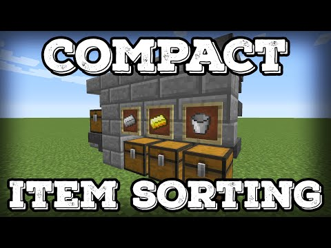 Minecraft Tutorial - Compact Automatic Item Sorter - Expandable(Minecraft 1.16+)