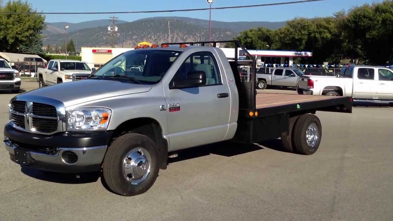 2010 Ram 3500 Regular Cab Flat Deck Dually Cummins