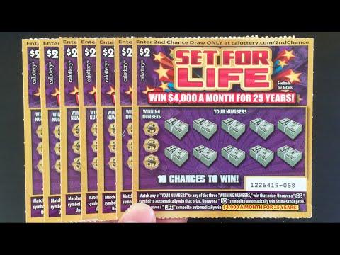 FIRST SCRATCHERS WE WON!! Set For Life $2 Scratchers