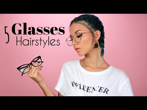 5 HAIRSTYLES W/ GLASSES TO TRY thumbnail